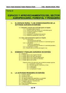 ESPACIO Y APROVECHAMIENTOS DEL SECTOR AGROPECUARIO, FORESTAL Y PESQUERO