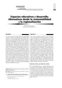 Espacios educativos y desarrollo: Alternativas desde la sustentabilidad. regionalization