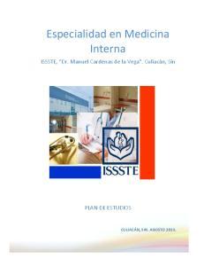 Especialidad en Medicina Interna