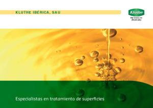Especialistas en tratamiento de superficies