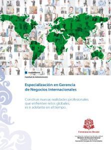 Especialización en Gerencia de Negocios Internacionales
