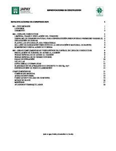 ESPECIFICACIONES DE CONSTRUCCION 1