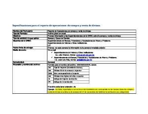 Especificaciones para el reporte de operaciones de compra y venta de divisas