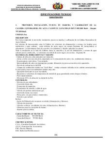 ESPECIFICACIONES TECNICAS CLIMATIZACION