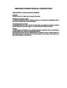 ESPECIFICACIONES TECNICAS -CONSTRUCCION