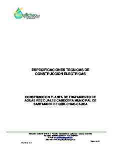 ESPECIFICACIONES TECNICAS DE CONSTRUCCION ELECTRICAS