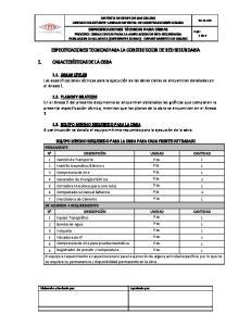 ESPECIFICACIONES TECNICAS PARA LA CONSTRUCCION DE RED SECUNDARIA
