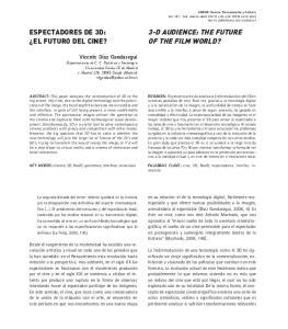 ESPECTADORES DE 3D: EL FUTURO DEL CINE?