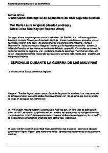 ESPIONAJE DURANTE LA GUERRA DE LAS MALVINAS