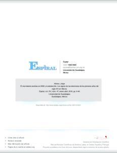 Espiral ISSN: Universidad de Guadalajara México