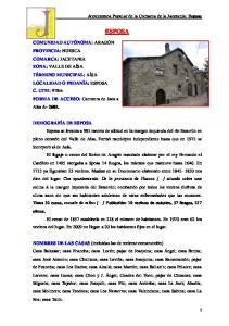ESPOSA. Arquitectura Popular de la Comarca de la Jacetania: Esposa