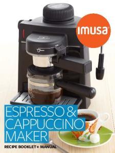 Espresso & cappuccino maker recipe booklet + manual