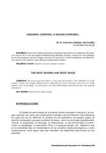 ESQUEMA CORPORAL E IMAGEN CORPORAL
