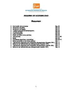 ESQUEMA DE ACCESIBILIDAD. Resumen