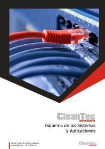 Esquema de los Sistemas y Aplicaciones. CleanTec Esquema de los Sistemas y Aplicaciones cleantecsoftware.com - Tlf: