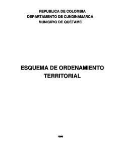 ESQUEMA DE ORDENAMIENTO TERRITORIAL MUNICIPIO DE QUETAME