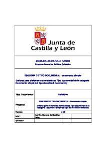 ESQUEMA DE TIPO DOCUMENTAL documento simple-