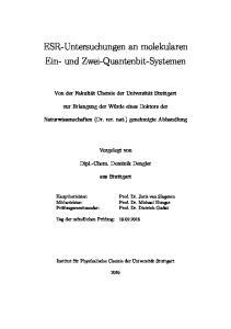 ESR-Untersuchungen an molekularen Ein- und Zwei-Quantenbit-Systemen