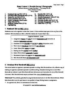 Essay Lesson 1: Page 1