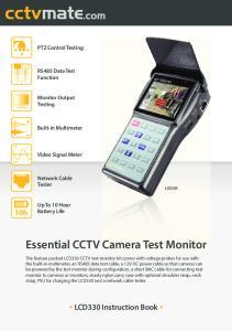 Essential CCTV Camera Test Monitor