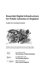 Essential Digital Infrastructure for Public Libraries in England