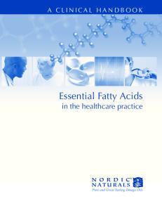 Essential Fatty Acids in the healthcare practice