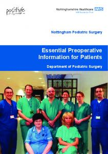 Essential Preoperative Information for Patients