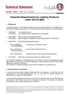 Essential Requirements for Lighting Products under the CE Mark