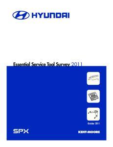 Essential Service Tool Survey 2011