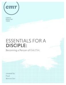 ESSENTIALS FOR A DISCIPLE: