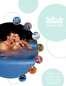 essentials . Products to Enhance Your Softub Spa Experience
