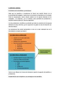 Establecimiento de los objetivos y las estrategias de los beneficios