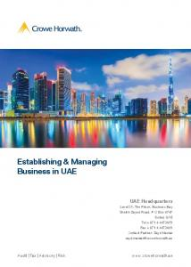 Establishing & Managing Business in UAE UAE Headquarters