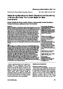 Establishing Reproductive Health Education and Counseling in Military Services: The Turkish Model for Male Involvement