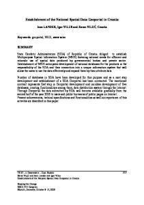 Establishment of the National Spatial Data Geoportal in Croatia