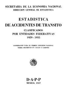 ESTADISTICA DE ACCIDENTES DE TRANSITO