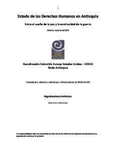 Estado de los Derechos Humanos en Antioquia