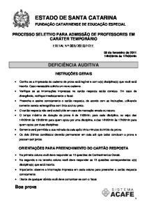 ESTADO DE SANTA CATARINA