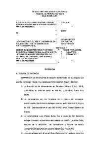 ESTADO LIBRE ASOCIADO DE PUERTO RICO TRIBUNAL DE PRIMERA INSTANCIA SALA DE SAN JUAN