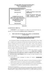 ESTADO LIBRE ASOCIADO DE PUERTO RICO TRIBUNAL DE PRIMERA INSTANCIA SALA SUPERIOR DE SAN JUAN