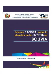 ESTADO PLURINACIONAL DE BOLIVIA MINISTERIO DE JUSTICIA