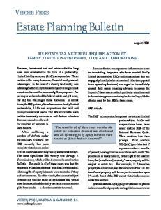 Estate Planning Bulletin