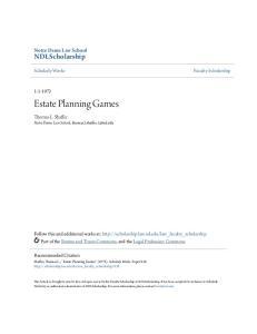 Estate Planning Games