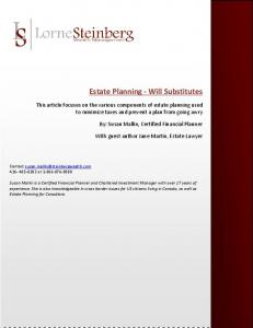 Estate Planning - Will Substitutes