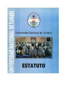 ESTATUTO DE LA UNIVERSIDAD NACIONAL DE TUMBES