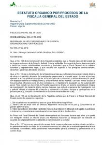 ESTATUTO ORGANICO POR PROCESOS DE LA FISCALIA GENERAL DEL ESTADO