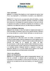 Estatuto Partido. Provincia de Salta Republica Argentina