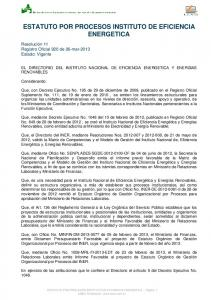 ESTATUTO POR PROCESOS INSTITUTO DE EFICIENCIA ENERGETICA