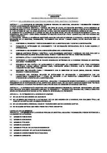 ESTATUTO SOCIAL ASOCIACION SOCIEDAD PERUANA DE ANESTESIA ANALGESIA Y REANIMACION