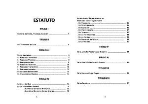ESTATUTO TITULO I TITULO II TITULO V TITULO III TITULO VI TITULO VII TITULO VIII TITULO IV